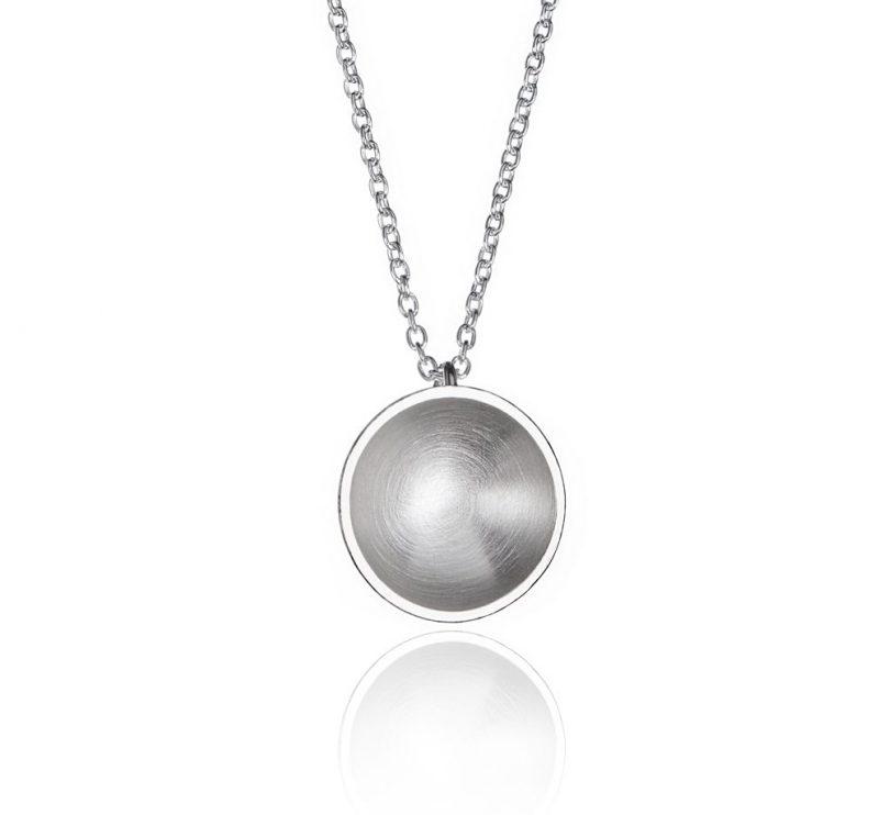 Miniplanet halskjede matt sølv