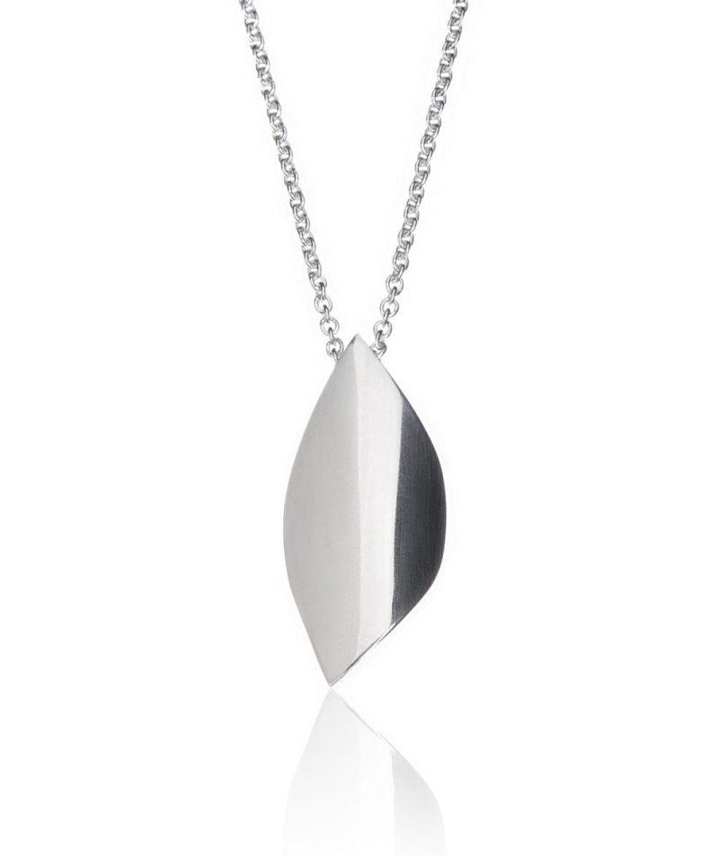 Bare Blad halskjede sølv