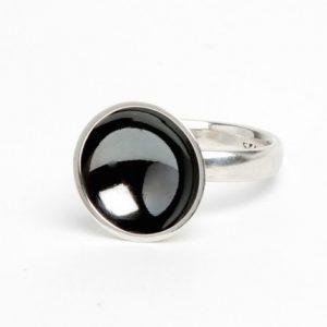 Planetring i oksidert sølv