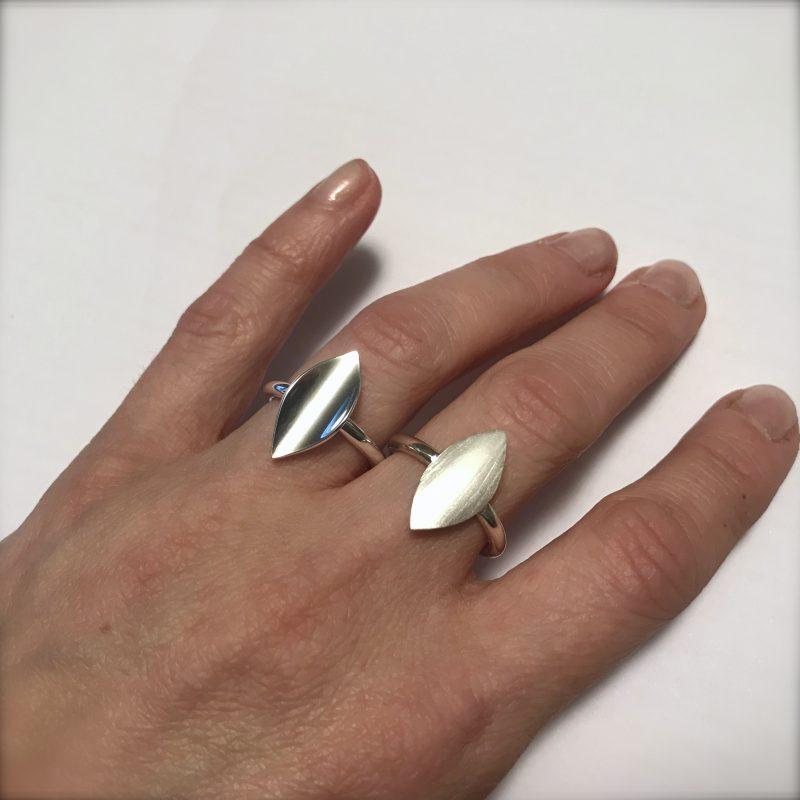 Mini Blad ring matt og blank