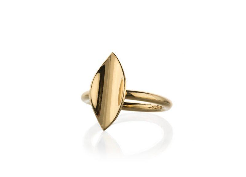 Mini Blad ring blank forgylt