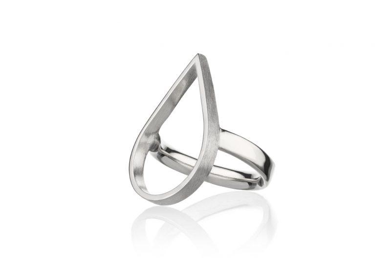 Sølvdråpe ring