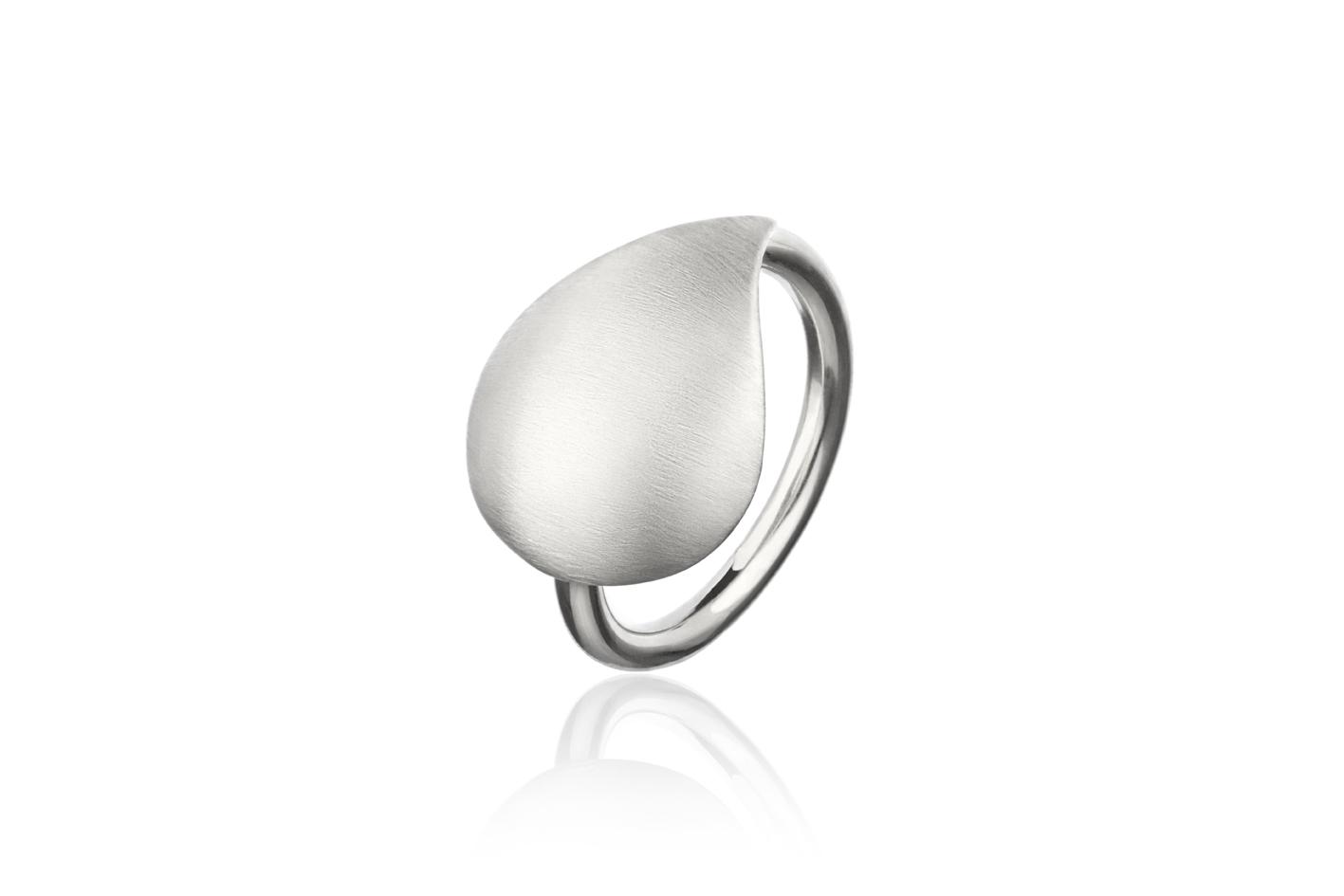 Skjell ring sølv