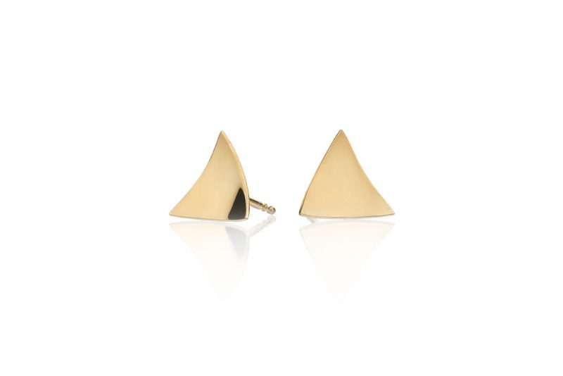 Triangler ørepynt forgylt