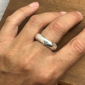 Gren-ring i finsølv