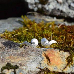Mikrobølger ørepynt i sølv